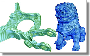 Super robust quad meshing by mixing parameterization and Morse complex...